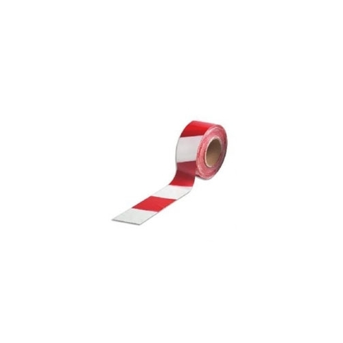 Non Adhesive Red / White Barrier Tape 75mm x 500m