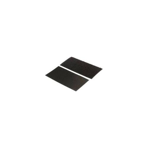 Self-Adhesive Black Hook and Loop 50mm x 145mm piece