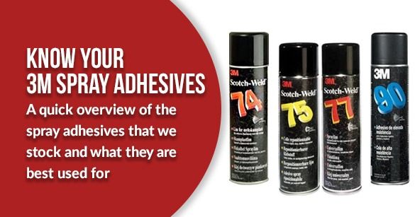 Know Your 3M™ Spray Adhesives