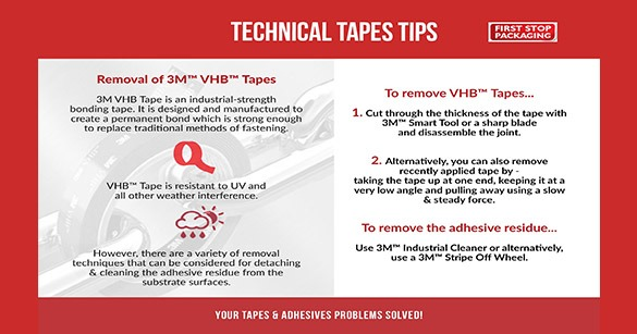 How Do You Remove 3M™ VHB™ Tape - Infographic